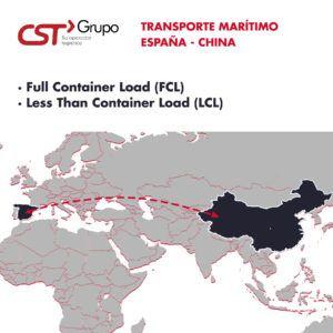 transporte amritimo china